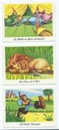 3 Cartes Contes - Le Petit Poucet - La Belle Au Bois Dormant - Le Lion Et Le Rat -   Offert Par Phosphatine - Fairy Tales, Popular Stories & Legends