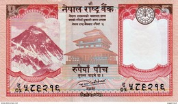 MINT NEPAL RUPEES-5 BANKNOTE 2017 AD MINT UNCIRCULATED UNC - Nepal
