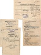 1503e: Dienstzettel Dt. Rotes Kreuz, Merkblatt Kampfstoffe, Expressgut- NS- Dokumente Eines Ostmark- Rekruten - Documents Historiques