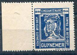 ViGNETTE D' AVIATION EMISE En 1944 POUR LE CINQUANTENAIRE  DE LA NAISSANCE DE GUYNEMER - Luchtvaart