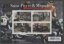 ST. PIERRE ET MIQUELON, SPM, 2017, MNH,OLD MOTORBIKES, DOGS, SHEETLET - Motorräder