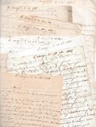1841/1848 - LA CHASSAGNE (71) INTÉRESSANTE CORRESPONDANCE Entre Un MÉTAYER Et Son Employeur - - Documents Historiques