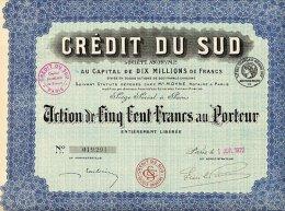 CREDIT DU SUD 1922 - Banca & Assicurazione