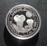 Somalia, Elephant 1 Oz 2014 Silver 999 Pure - 1 Oncia Argento Puro Bullion Elefante - Somalie