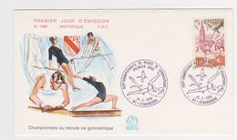 Enveloppe 1 Er Jour  / N 1098 / Championnats Du Monde De Gymnastique / Strasbourg / 21-10-1978 - 1970-1979