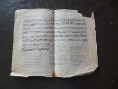 Partition Gravée La Libéra De La Bourbonnaise Fin 18ème/début 19ème 25 X 25 Cm Environs En L'état - Music & Instruments