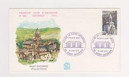 Enveloppe 1 Er Jour  / N 1083 / Saint Saturnin / 10-6-1978 - 1970-1979
