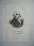 F. M. J. ROBESPIERRE, NE A ARRAS EN 1744, MORT SUR L'ECHAFAUD 28 07 1794. LITHOGRAPHIE DE 1830 PAR DUCARME. - Lithographies