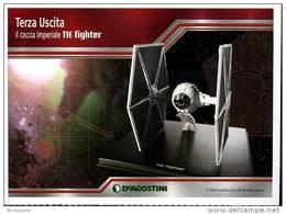 STAR WARS NAVICELLE E VEICOLI DEAGOSTINI FOGLIETTO PUBBLICITARIO 13X18 CACCIA IMPERIALE TIE FIGHTER - Advertising