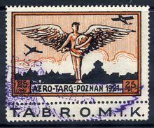 POLAND 1921 Aero-Targ  Semi-official Airmail 25 Mk. Used.  Michel I - Airmail