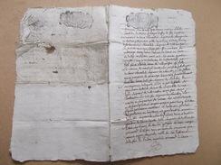 LOT CACHET GENERALITE POITIERS 1696 PROCES NOBLESSE DU LAU LAURENCIE Seigneur Chambon St Junien Gelais Savignac Celettes - Cachets Généralité
