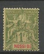 NOSSI-BE YVERT N° 39 NEUF* CHARNIERE PLI ANGLE GAUCHE / MH - Nossi-Bé (1889-1901)