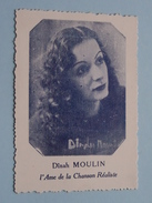 Dinah MOULIN L'Ame De La Chanson Réaliste ( Carte +/- 7 X 9,5 Cm.) ( Details Zie Foto ) ! - Photos