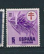 N° 808 Emis Au Profit Des Oeuvres Antituberculeuses  Espana  Timbre Espagne ( 1950 ) Neuf ** - 1931-Oggi: 2. Rep. - ... Juan Carlos I