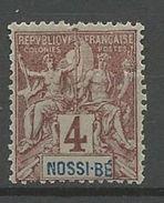 NOSSI-BE YVERT N° 29 NEUF* CHARNIERE TB / MH - Nossi-Bé (1889-1901)