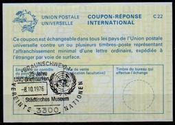 3300 BRAUNSCHWEIG BRIEFMARKEN AUSSTELLUNG / UNITED NATIONS Internationaler Antwortschein Reply Coupon Reponse IAS IRC - Briefmarkenausstellungen