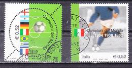 2002 CAMPIONI DEL MONDO  0,52 Euro BLOCCO USATO Separati - 6. 1946-.. Repubblica