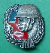 YUGOSLAVIA ARMY COLLAR BADGES, GOOD SOLDIER, IKOM ZAGREB. - Other