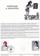 Document De La Poste - Histoire Du Timbre Poste - Hommage à Jean Effel - 15 Octobre 1983 - - Documentos Del Correo