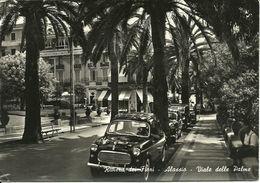 Alassio (Savona, Liguria) Viale Delle Palme, Allée Des Palmes, Palms Alley, Auto D'Epoca, Cars, Voitures - Savona