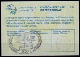 5300 BONN  12.3.76  BRIEFMARKEN AUSSTELLUNG / UNITED NATIONS Internationaler Antwortschein Reply Coupon Reponse IAS IRC - Briefmarkenausstellungen