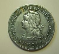 Portugal Angola 50 Centavos 1928 - Portogallo