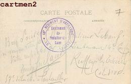 CACHET MILITAIRE PONTAILLER-SUR-SAONE 48eme REGIMENT D'ARTILLERIE VONGES POUDRERIE MARCOPHILIE GUERRE - France