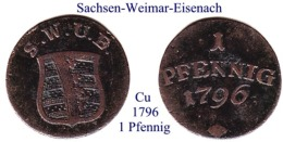 DL-1796, 1  Pfennig  Sachsen Weimar-Eisenach - Piccole Monete & Altre Suddivisioni