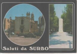 VENDO N.1 CARTOLINA DI SURBO(LE)SALUTI CON VEDUTE MULTIPLE,FORMATO GRANDE A COLORI - Lecce