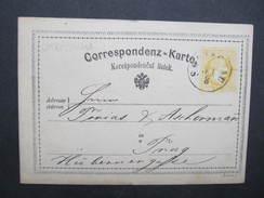 GANZSACHE Korrespondenzkarte Skoczow Skotschau - Prag 1873 /// D*27502 - Briefe U. Dokumente