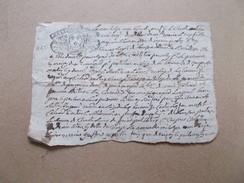 Fiscal Fiscaux CACHET GENERALITE POITIERS Timbre De 1727 Et 1738 Sur Petit Papier De 1739 - Cachets Généralité