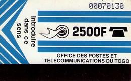 TARJETA TELEFONICA DE TOGO (REVERSO EN BLANCO).(442) - Togo
