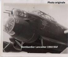 Photographie Originale  RAF Bombardier Lancaster Guerre Luftwaffe  1940 - 1945 - Aviazione