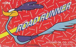 Télécarte Japon / 110-011 - BD Comics - WARNER BROS - ROAD RUNNER * Kyushu Oil Adv. - Japan Phonecard - Comics