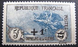LOT R1624/164 - 1922 - AU PROFIT DES ORPHELINS DE LA GUERRE - N°169 NEUF* (quasi **) - Cote : 170,00 € - France
