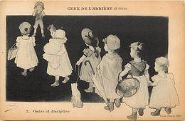 - Ref-659- Guerre 1914-18 - Illustrateur - Ceux De L Arriere - N° 7- Ordre Et Discipline -illustrateurs - Carte Bon Etat - Guerra 1939-45
