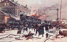 - Ref-656- Guerre 1914-18 - Pas De Calais - Vermelles - Combat Dans La Gare - Illustrateur - Illustrateurs - - Guerre 1939-45