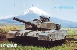 Télécarte JAPON * WAR TANK (216) MILITAIRY LEGER ARMEE PANZER Char De Guerre * KRIEG * JAPAN Phonecard Army - Armee