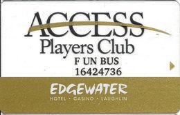Edgewater Casino - Laughlin, NV - Clear Slot Card - FUN BUS Printing - Casino Cards