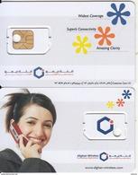 AFGHANISTAN - Girl On Phone, Afghan Wireless GSM, Sample - Afghanistan