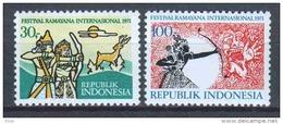 Indonesia 1971 Mi 692-693 MNH - Indonesië