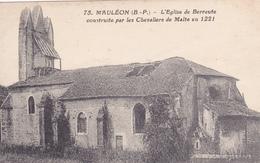 64 .MAULEON LICHARRE. .CPA . L'EGLISE DE BERRAUTE - Mauleon Licharre