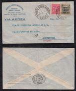 Brazil Brasil 1933 Airmail Cover SAO PAULO To MONTEVIDEO Uruguay - Brasil