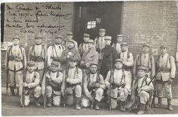 """LISIEUX (14) Carte Photo Groupe De Militaires """"futurs Vengeurs"""" 1916 - Lisieux"""