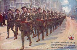 - Ref-646- Guerre 1914-18 - Illustrateur - Nouvelle Zelande - New Zeland -  Allant Au Front - Going To The Front - - Weltkrieg 1939-45