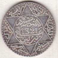 Maroc . 2 1/2 Dirhams (1/4 Rial) AH 1321 Berlin . Abdül Aziz I , En Argent - Maroc