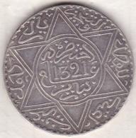 Maroc . 10 Dirhams (1 Rial) AH 1321 Paris . Abdül Aziz I  , En Argent - Maroc
