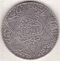 Maroc . 10 Dirhams (1 Rial) AH 1321 Paris . Abdül Aziz I  , En Argent - Morocco