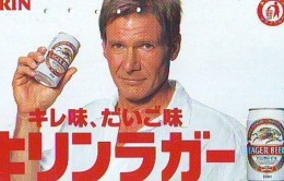 Télécarte JAPON * BIERE *  (1068) BEER * HARISSON FORD * TELEFONKARTE * JAPAN PHONECARD * BIERE * CERVEZA * - Advertising