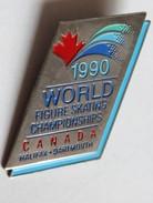 Broche World Figure Skating Championships Canada 1990 Halifax Champion Du Monde Patinage - Patinage Artistique